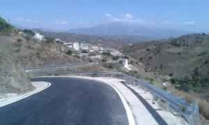urbanización y asfaltado Almáchar