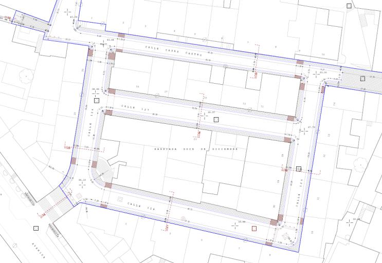 Plano reconstrucción pavimento Ceuta